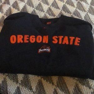 Large men's OSU Beaver's Nike pullover